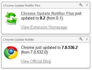 Chrome update notifier повідомлення про оновлення браузера chrome.