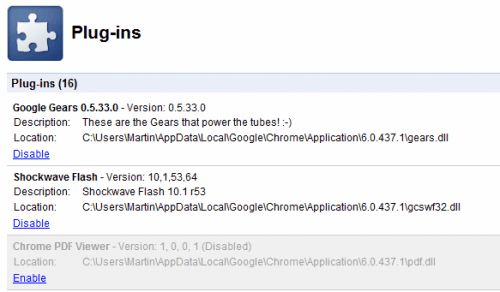 Google chrome dev отримує рідний pdf плагін.