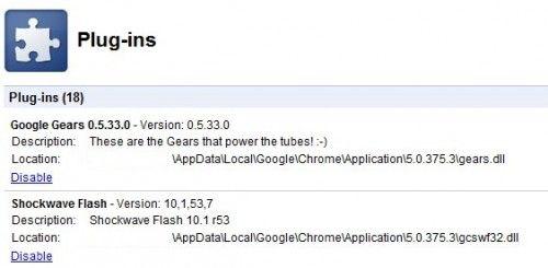 Google chrome flash-плагін включений за замовчуванням.