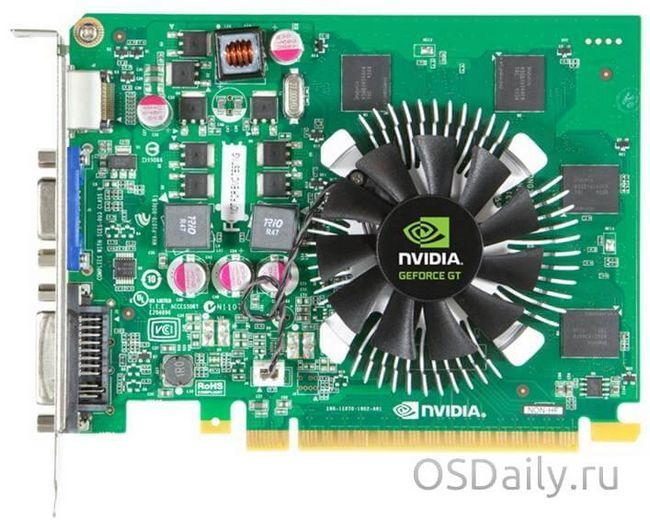 Характеристики відеокарти nvidia geforce gt 630