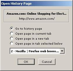 History tree історія перегляду відвіданих сайтів в firefox.
