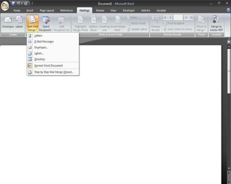 Як зробити cліяніе документів в word 2007.