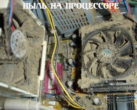 Як почистити комп`ютер від пилу