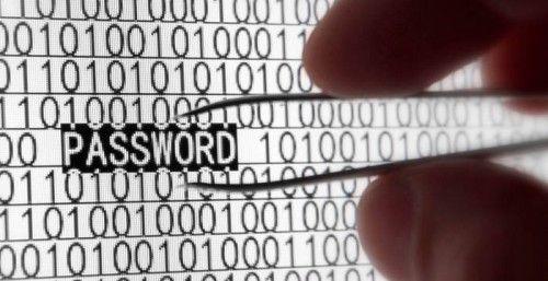 Зображення руки з пінцетом вилучати напис password з ряду одиничного коду