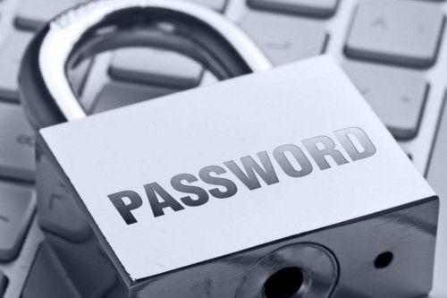 Навісний замок з написом password