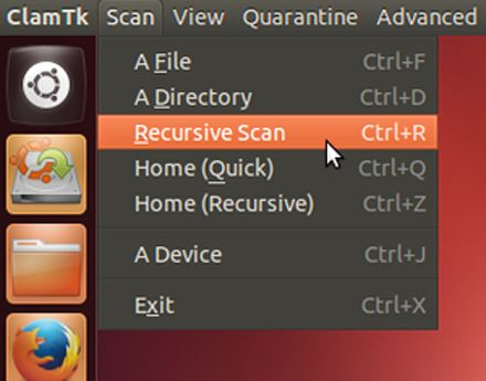 clamav-start-recursive-scan