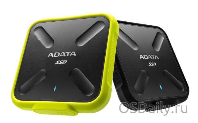 Компанія adata представила sd700 durable external міцний зовнішніх 3d nand корпус для ssd накопичувача