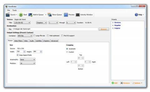 Копіювання і конвертація dvd з vidcoder.