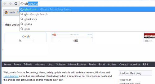 Миттєвий пошук в google chrome dev.