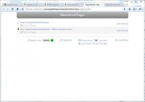 Моніторинг веб-сайтів в google chrome.