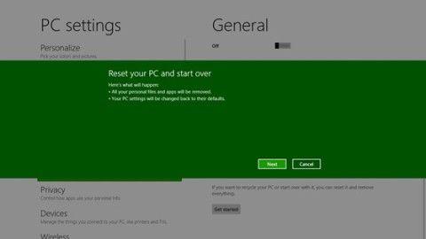 Оновлення та перезавантаження комп`ютера з windows 8.