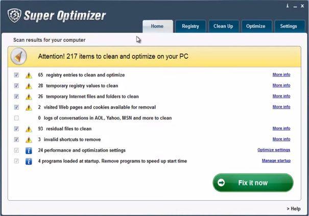 Огляд програми super optimizer