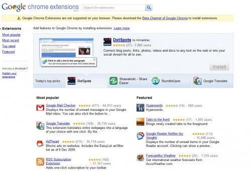Офіційний сайт розширень для google chrome.