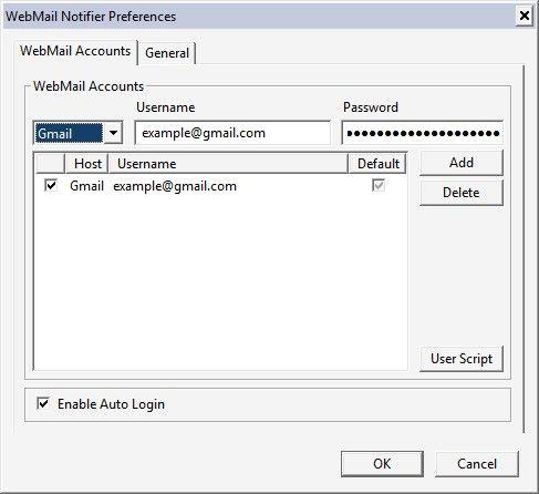 Сповіщення електронної пошти в firefox з доповненням webmail notifier.