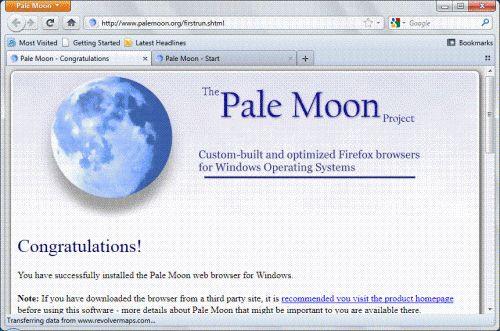 Оптимізований варіант firefox 5-pale moon 5.