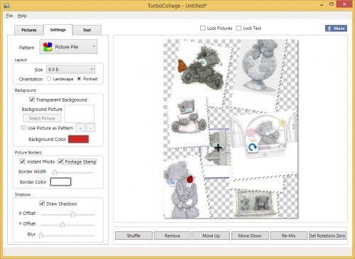 Вікно роботи в редакторі TurboCollage