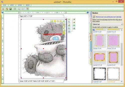 Вікно програми PhotoMix Collage