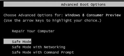 Простий спосіб завантаження в безпечному режимі windows 8.