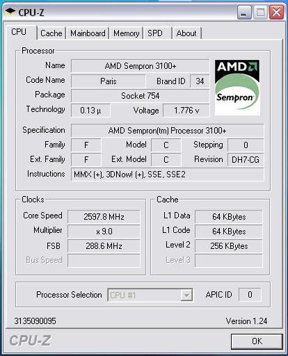 Розгін процесора amd sempron.