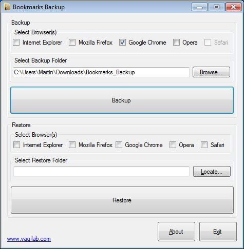 Резервне копіювання веб-браузерів.