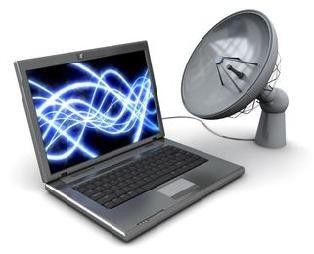 Супутниковий інтернет та телебачення на ноутбуці.