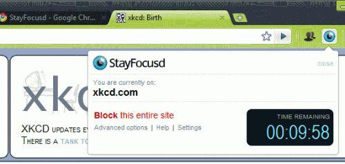 Stay focusd для google chrome допоможе вам зосередиться на роботі.
