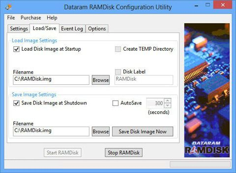 Dataram-RAMDisk-Configuration-Utility