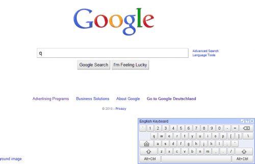 Віртуальна клавіатура для google chrome.