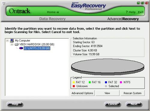 Відновлюємо дані програма ontrack easyrecovery ™ professional.